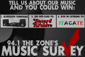 94.1 The Zone's Music Survey
