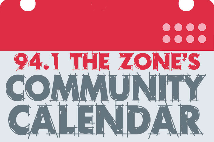 94.1 The Zone's Community Calendar