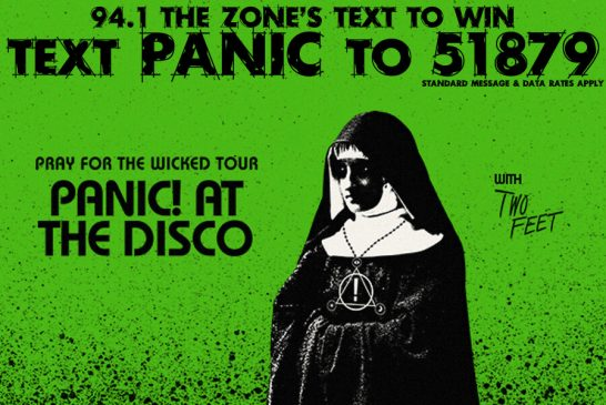 Panic! At The Disco TEXT TO WIN