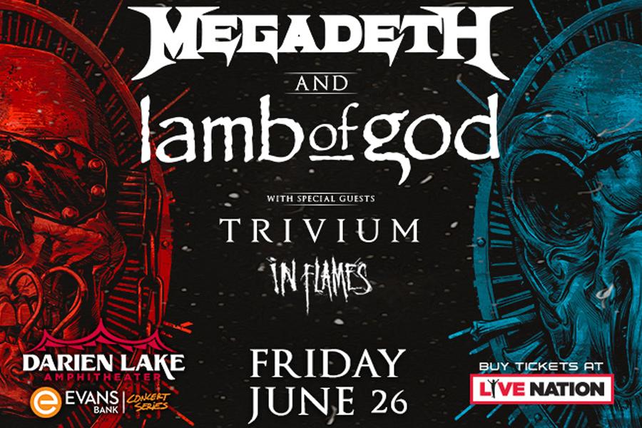 Megadeth | Lamb of God | June 26