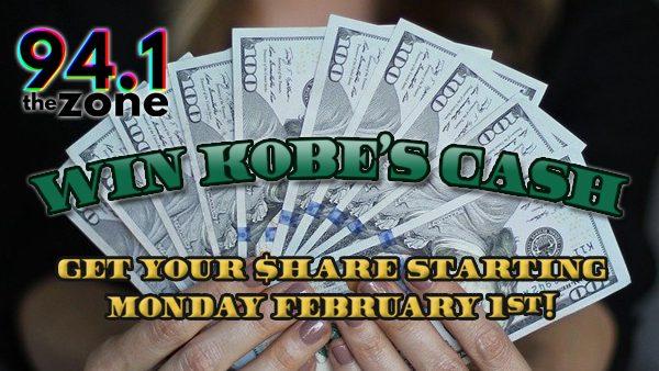 Win Kobe's Cash Coming 2/1